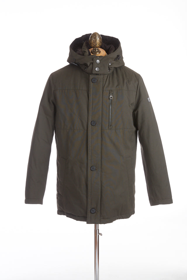 Bugatti Green Down Filled Cotton-Nylon Winter Jacket - Outerwear - Bugatti - LALONDE's