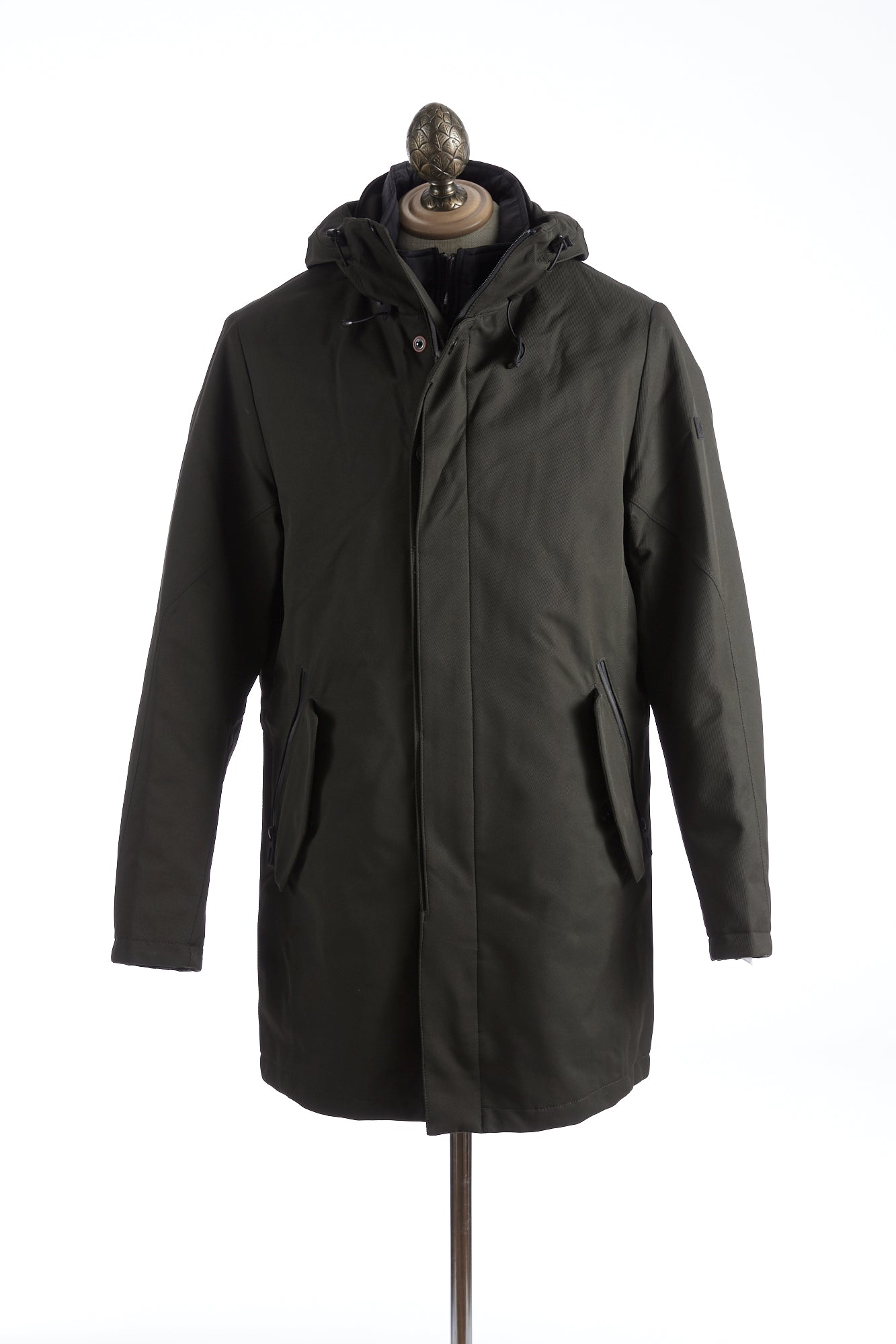 Bugatti Green Waterproof Hooded Parka