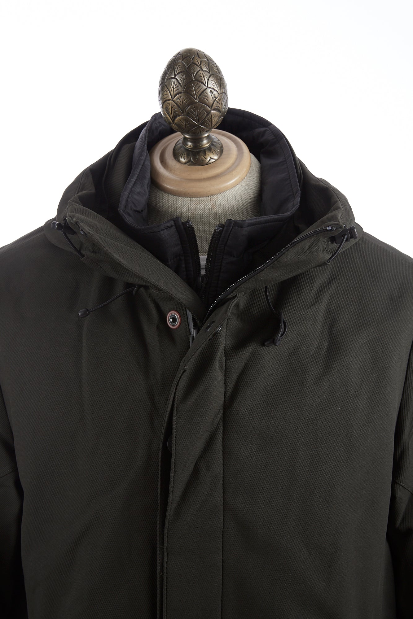 Bugatti Green Waterproof Hooded Parka Front