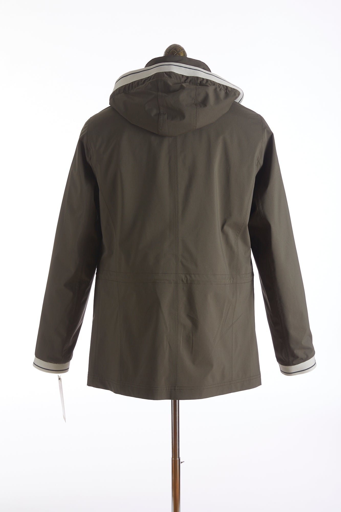 Bugatti Olive Waterproof Rainseries Jacket Back