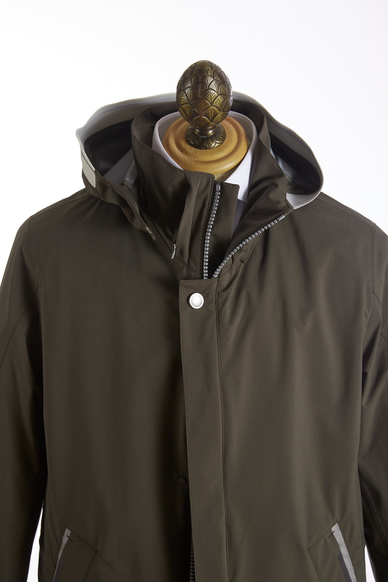 Bugatti Olive Waterproof Rainseries Jacket Front