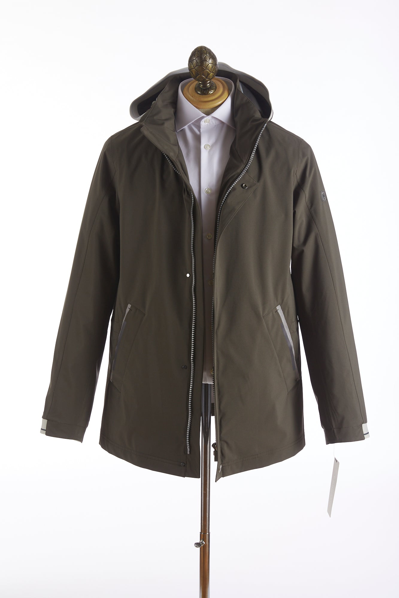 Bugatti Olive Waterproof Rainseries Parka Jacket