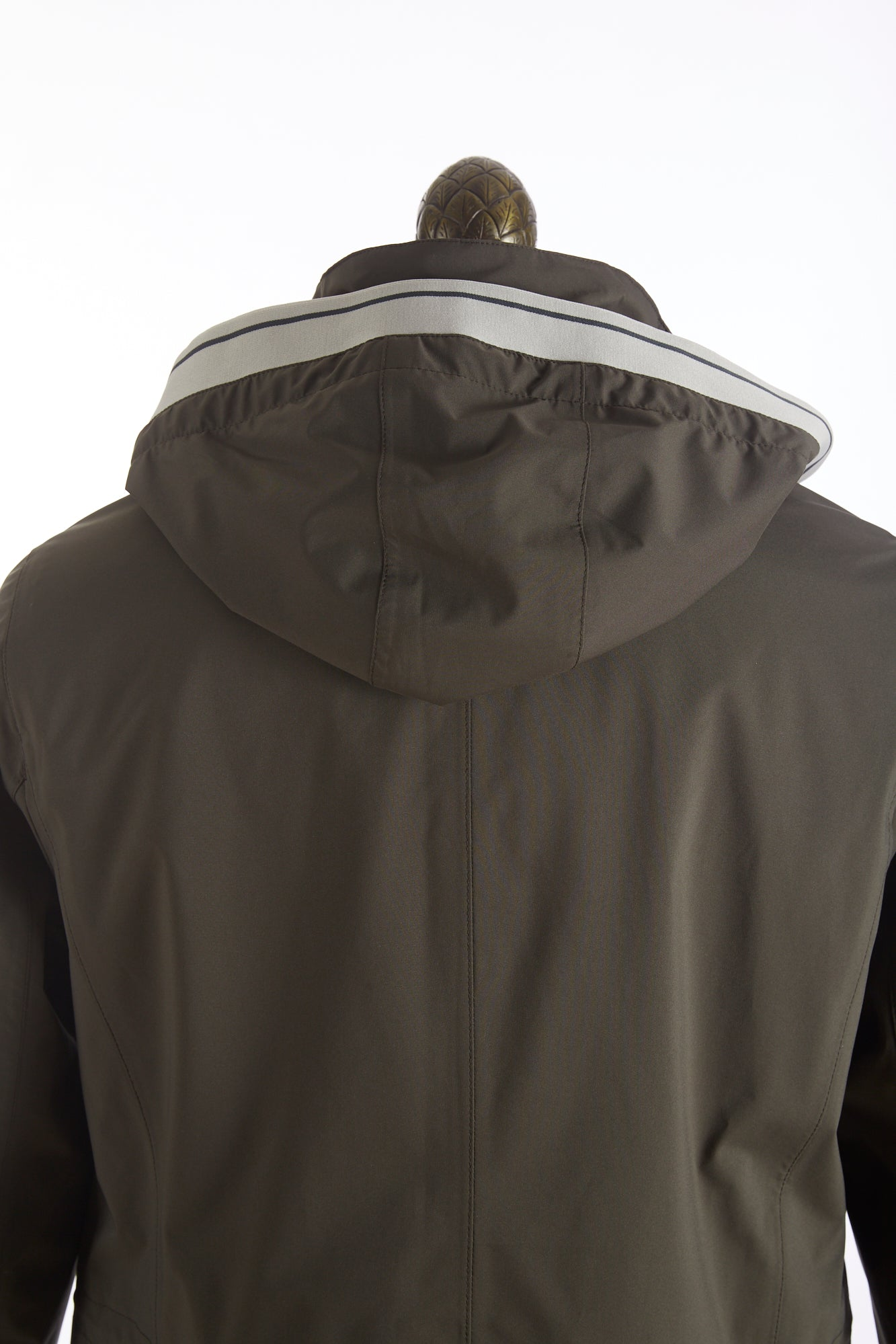 Bugatti Olive Waterproof Rainseries Parka Jacket Back