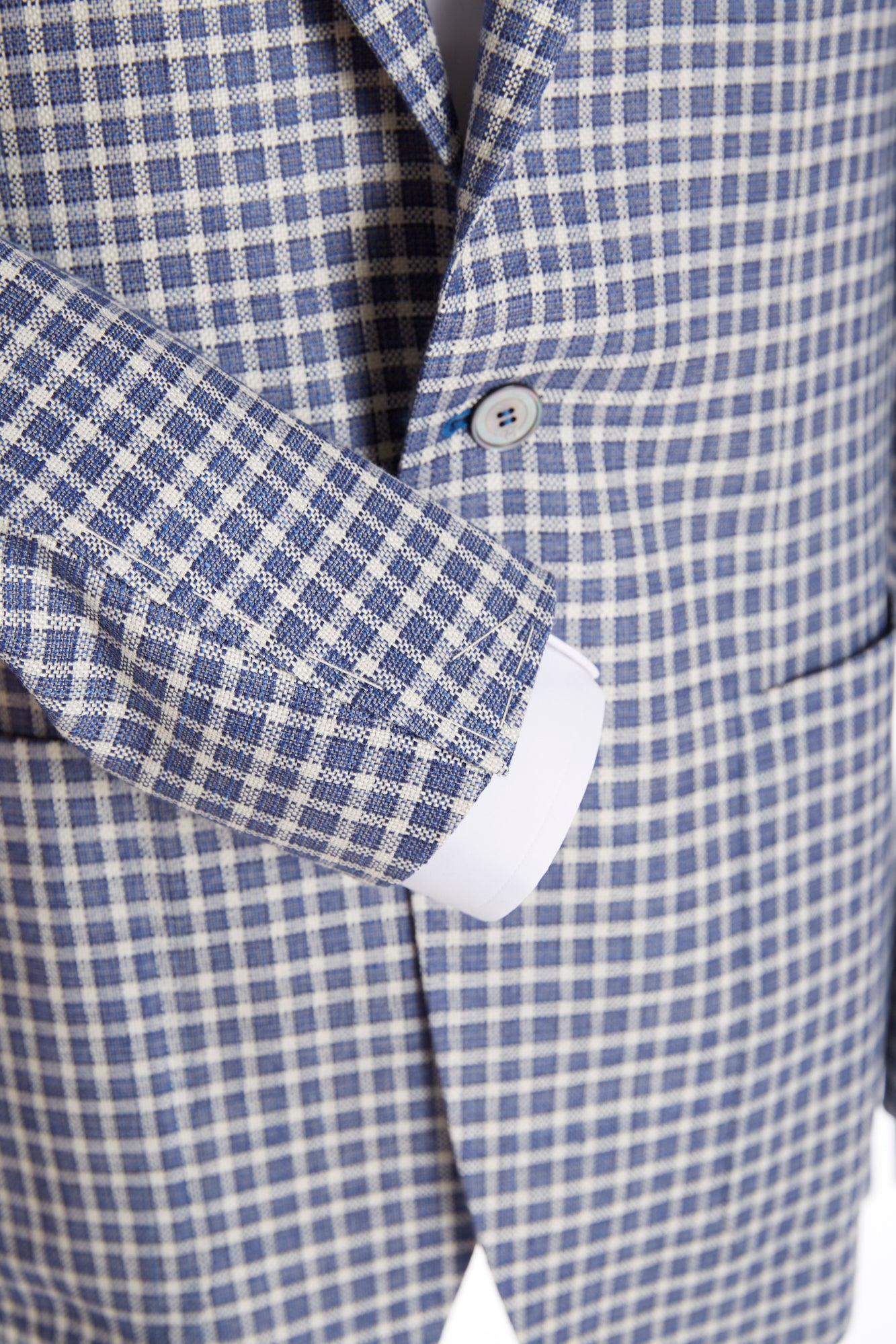 Canali Blue and White Check Sport Jacket - Sport Jackets - Canali - LALONDE's