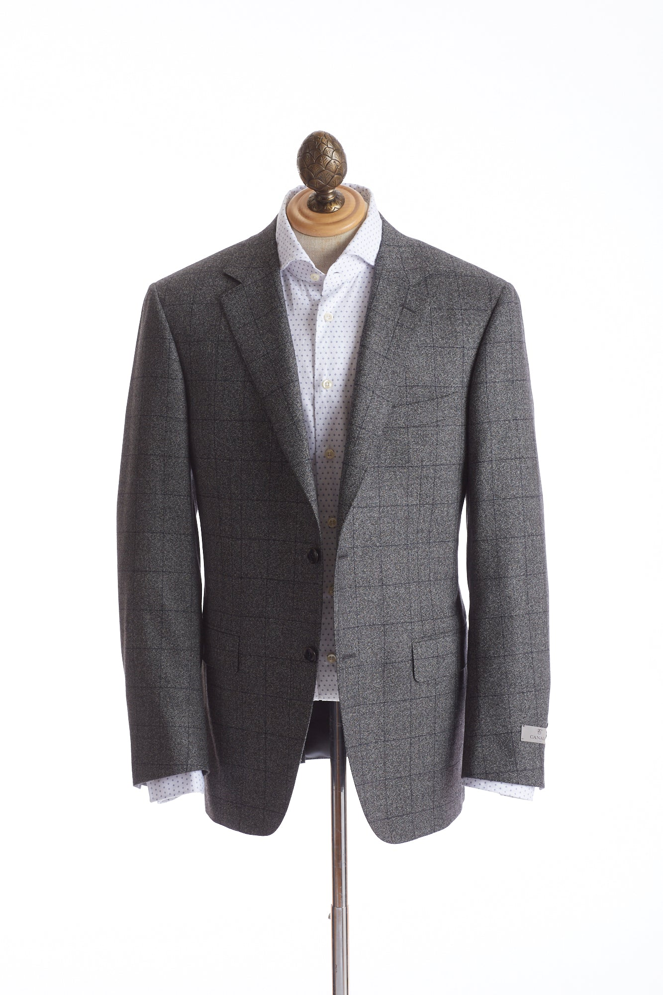 Canali Grey Windowpane Suit