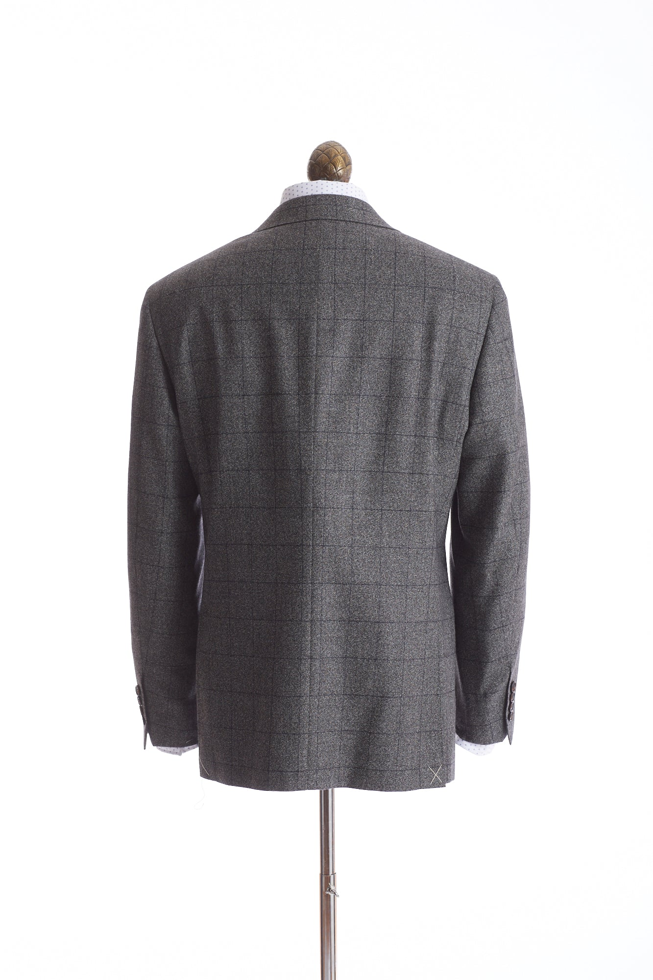 Canali Grey Windowpane Suit Back