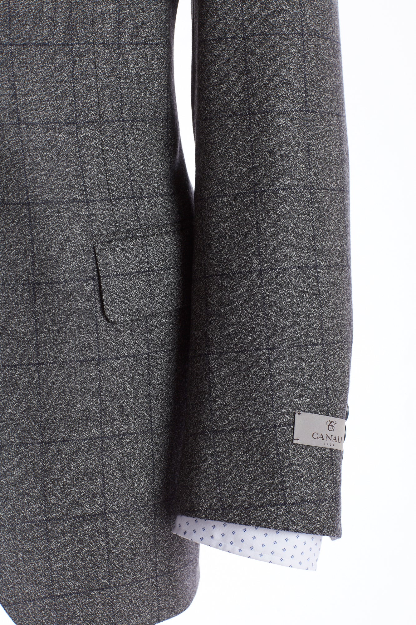 Canali Grey Windowpane Suit - Suits - Canali - LALONDE's