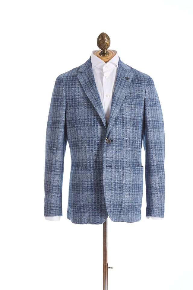 Canali Light Blue Glen Check Sport Jacket - Sport Jackets - Canali - LALONDE's