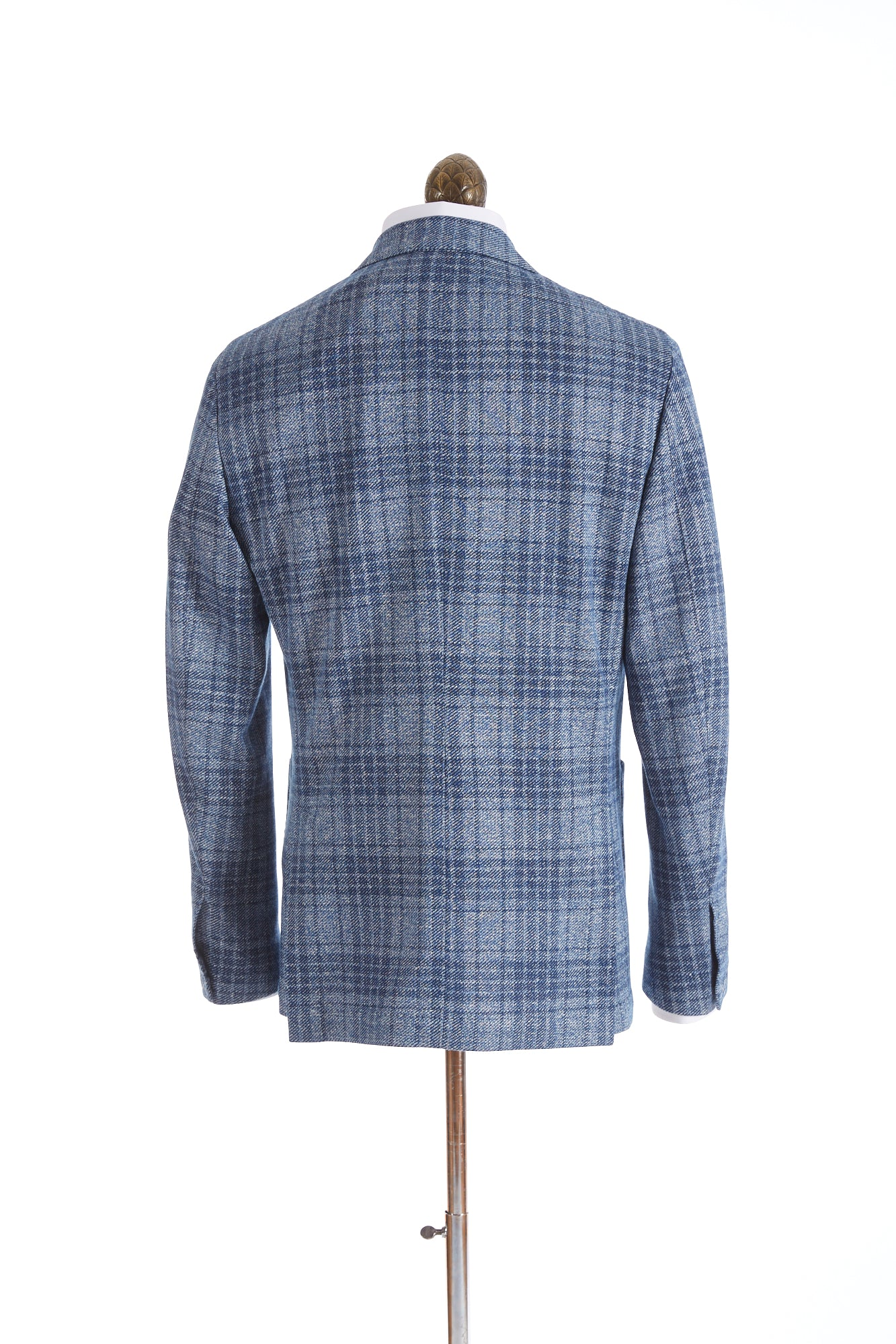 Canali Light Blue Glen Check Sport Jacket Back