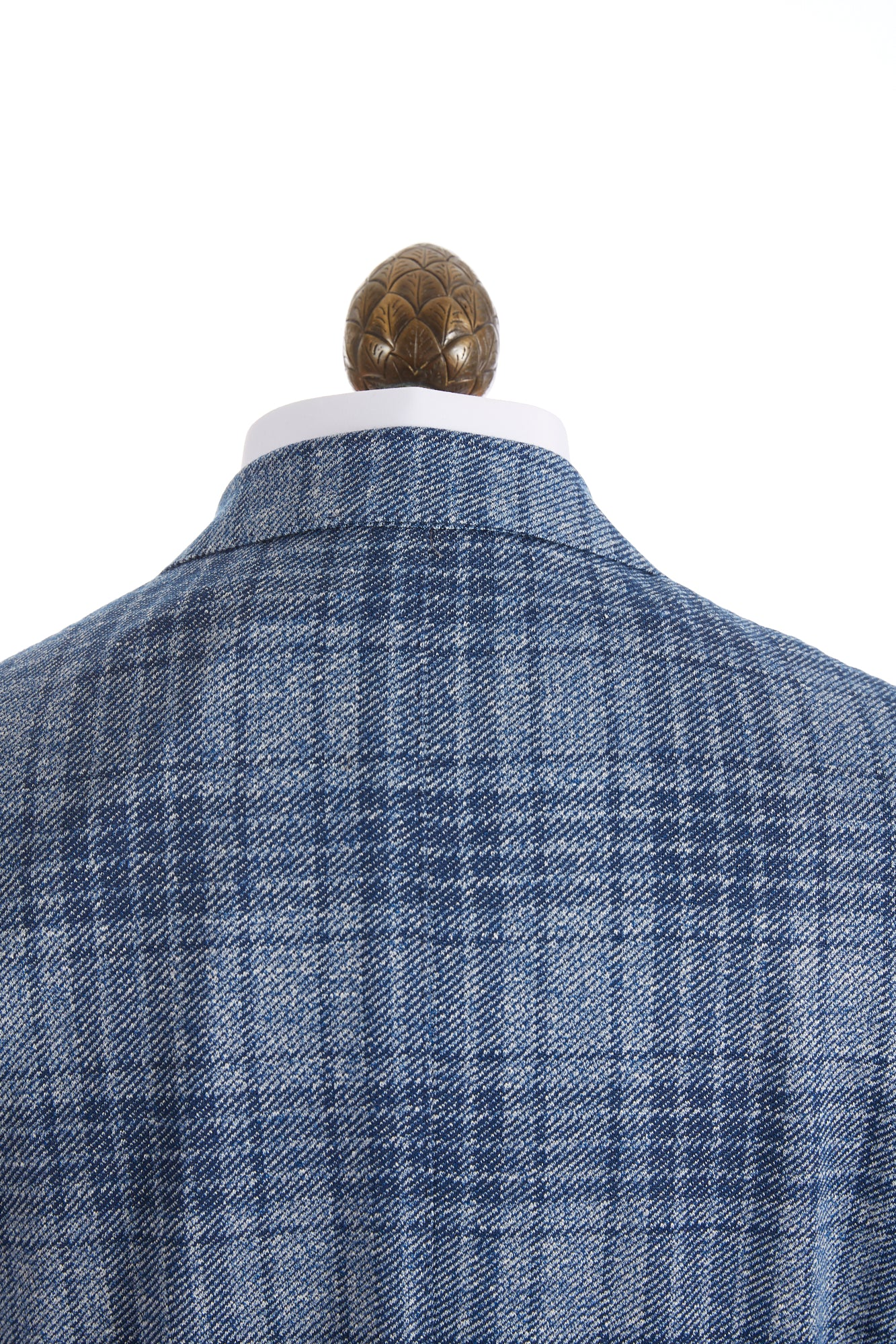 Canali Light Blue Glen Check Sport Jacket Collar