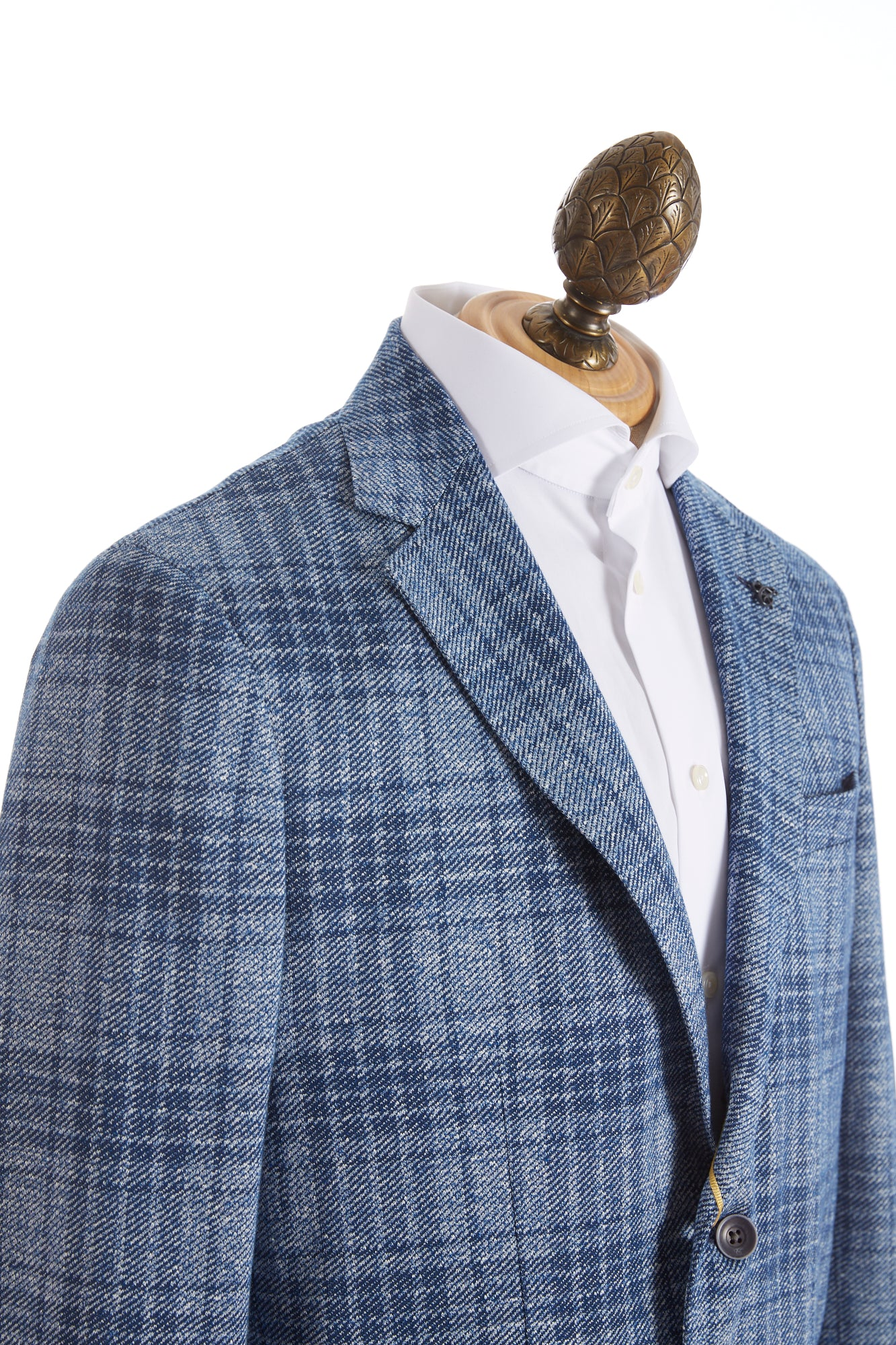 Canali Light Blue Glen Check Sport Jacket Side