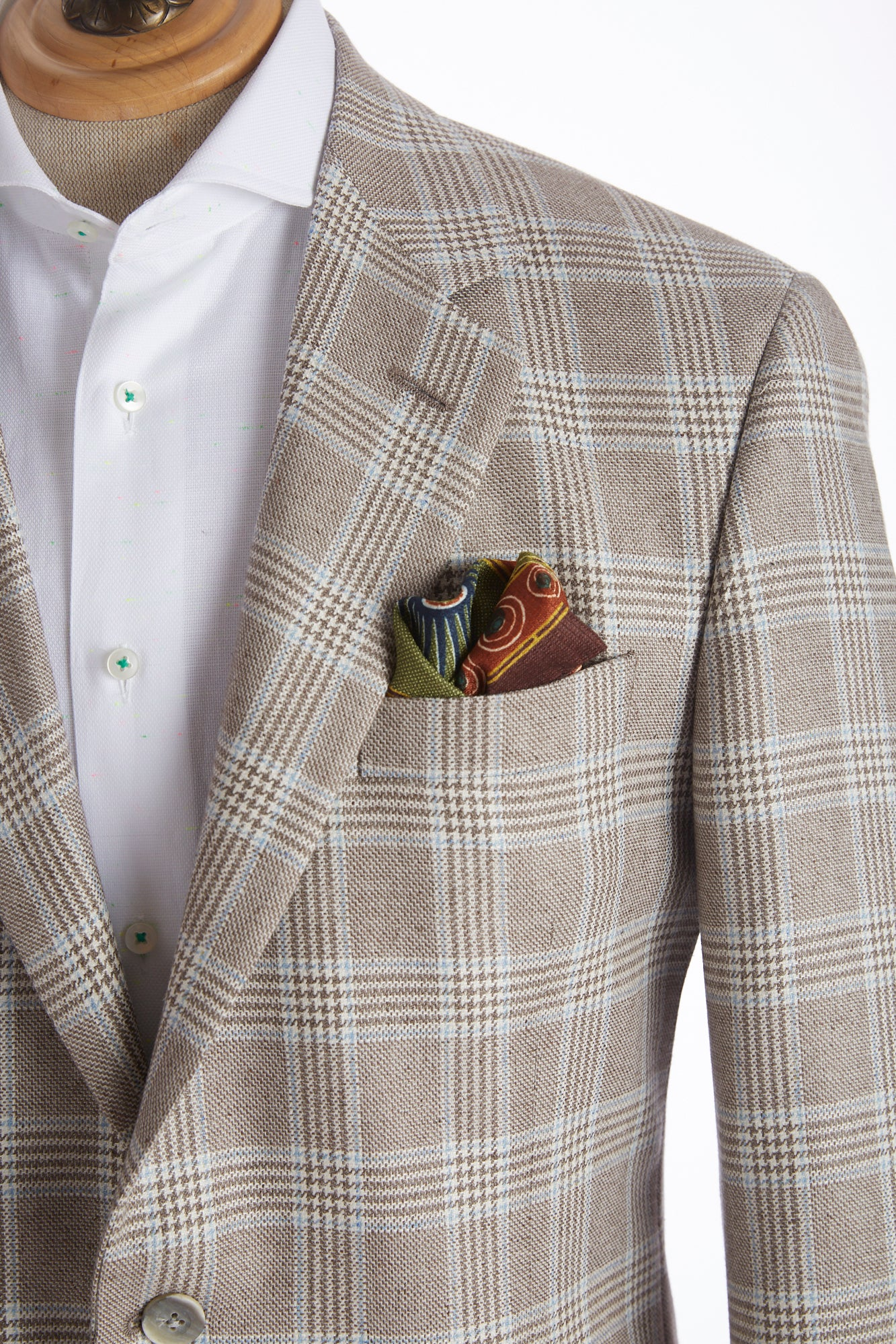 Coppley Light Brown Glencheck Sport Jacket