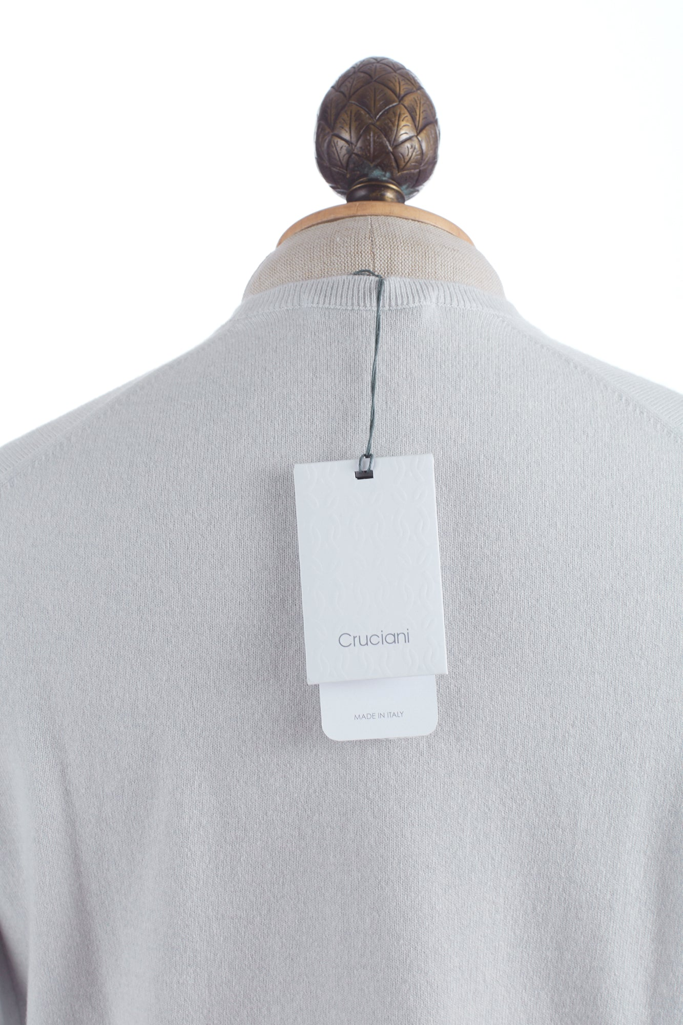 Cruciani Icy White Cashmere Tag
