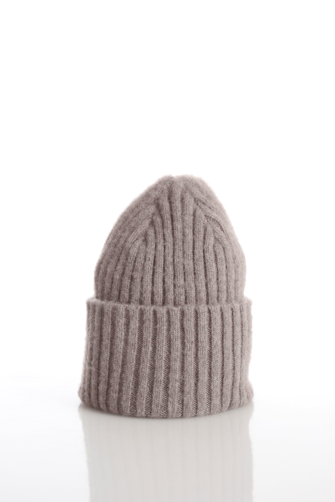 Drake's Beige Ribbed Merino Wool Hat - Accessories - Drake's - LALONDE's