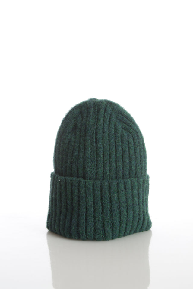 Drake's Green Ribbed Merino Wool Hat - Accessories - Drake's - LALONDE's