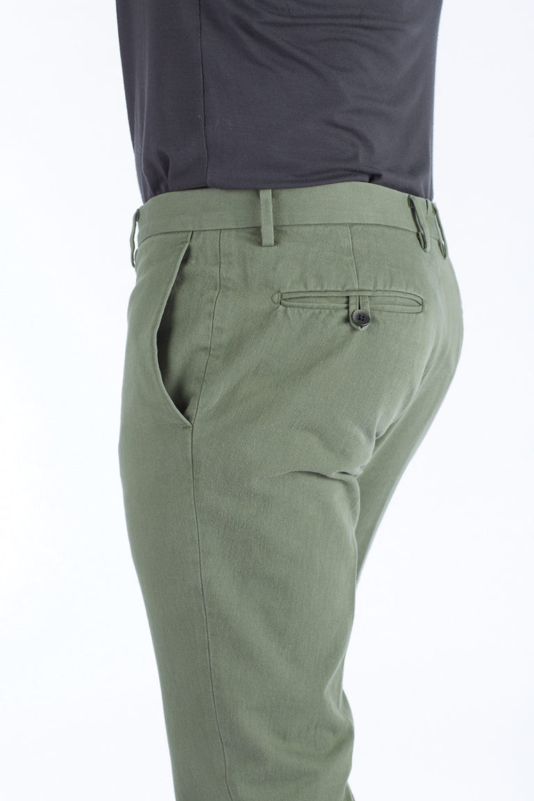Echizenya Washed Basil Cotton Twill Chinos - Pants - Echizenya - LALONDE's