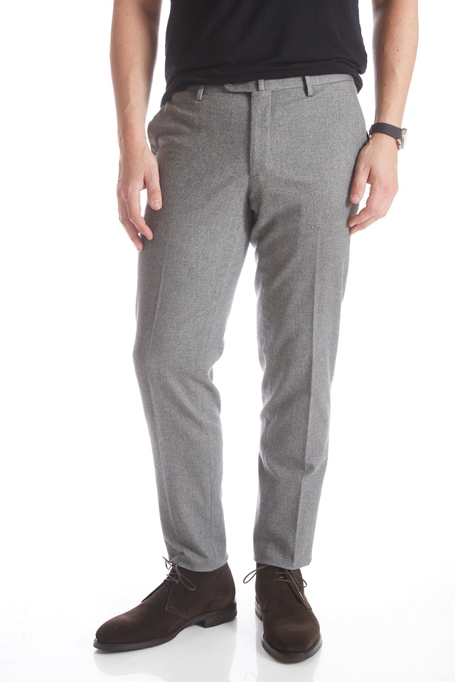 Echizenya Light Grey Diamond Weave Flannel Pant - Pants - Echizenya - LALONDE's