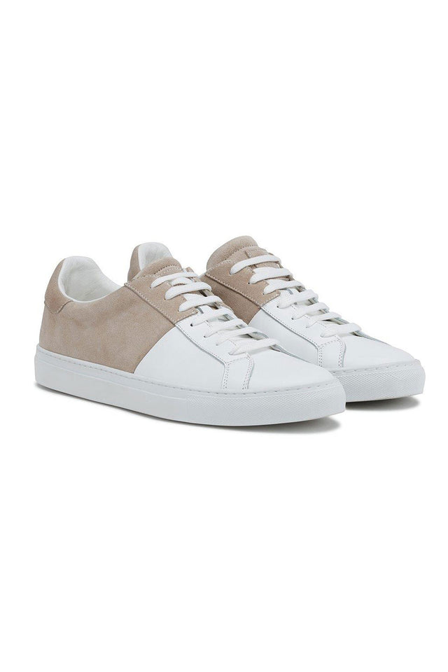 Eleventy Two-Tone Suede Leather Sneaker
