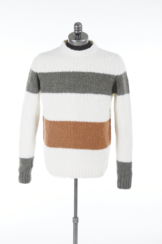 Eleventy Colourblock Alpaca-Cashmere Sweater
