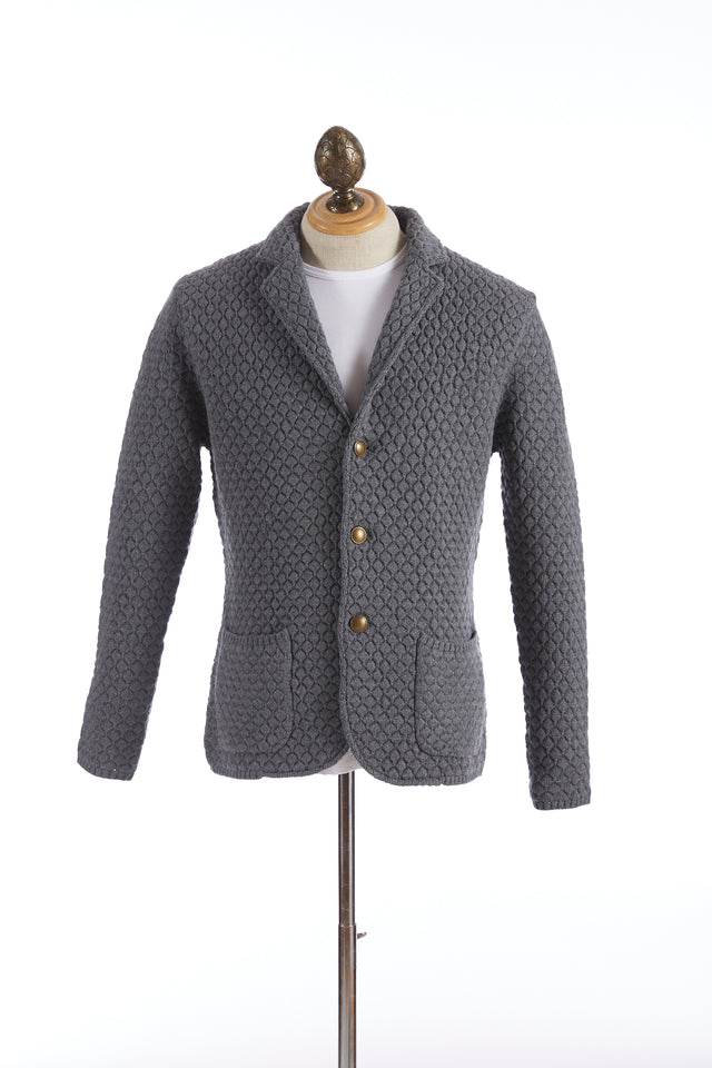 Eleventy Diamond Pattern Sweater Jacket