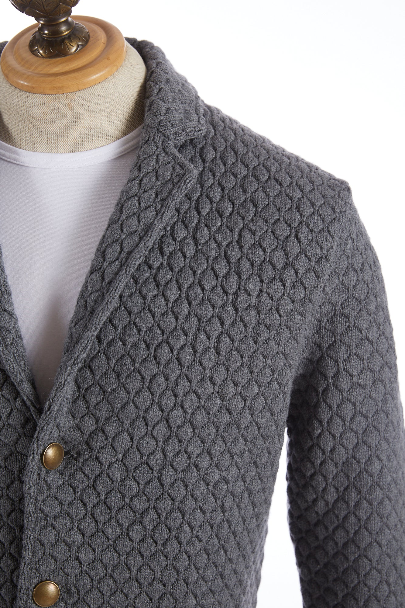 Eleventy Diamond Pattern Sweater Jacket - Sweaters - Eleventy - LALONDE's