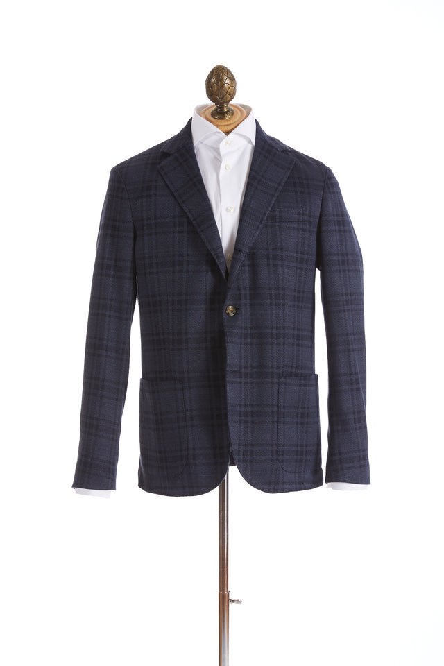Eleventy Navy Glen Check Stretch Sport Jacket - Sport Jackets - Eleventy - LALONDE's