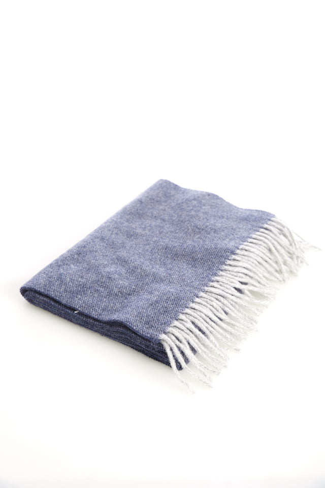 Eton Blue Wool Scarf - Accessories - Eton - LALONDE's
