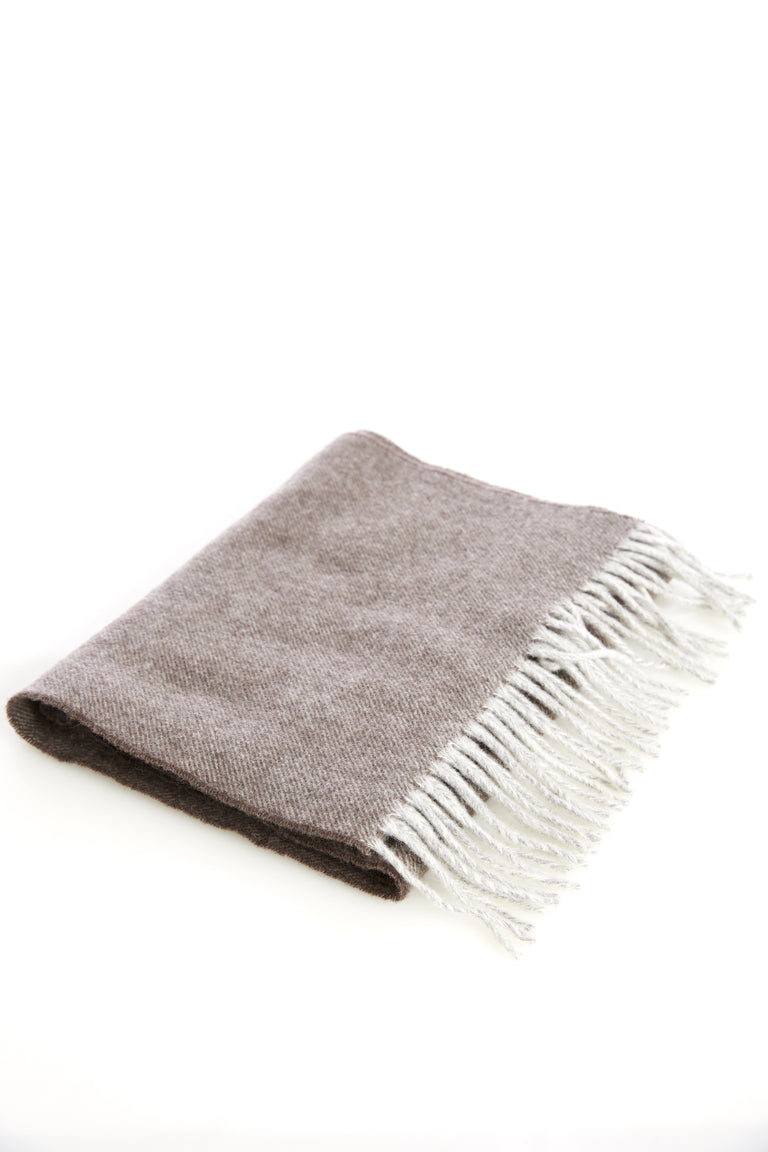 Eton Brown Wool Scarf - Accessories - Eton - LALONDE's