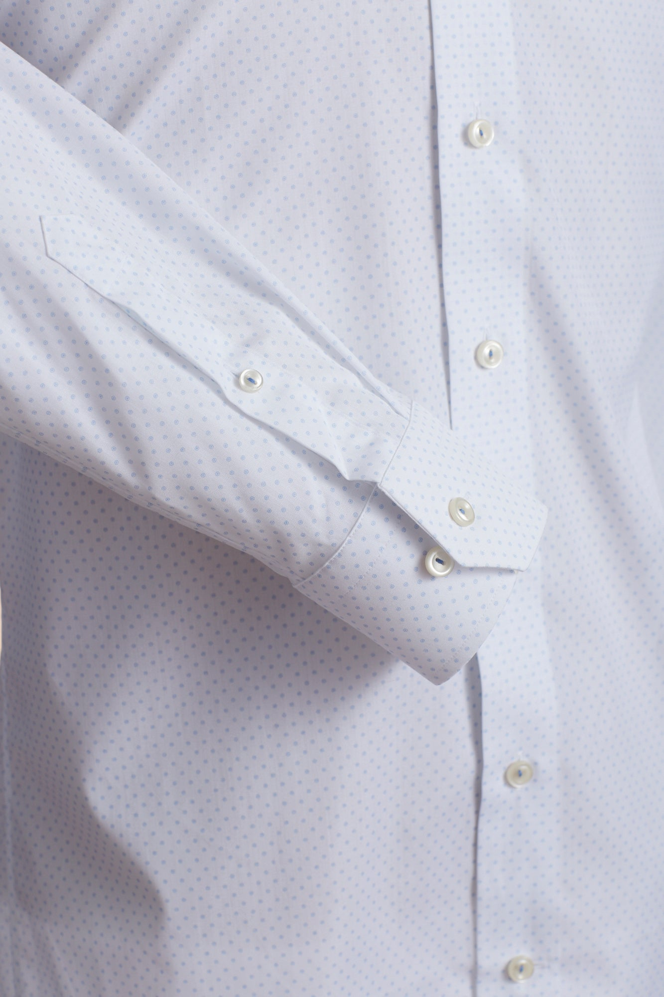 Eton Circle Dot Print Shirt Sleeve