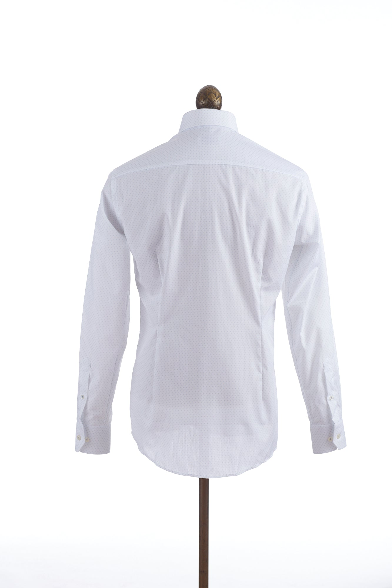 Eton Circle Dot Print White Shirt