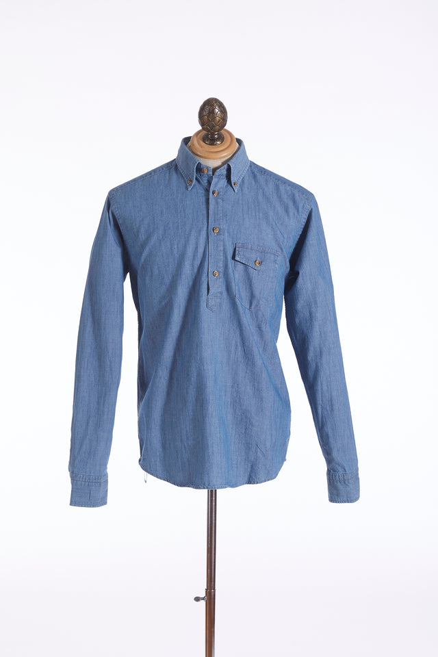 Eton Denim Button-down Popover Shirt - Shirts - Eton - LALONDE's