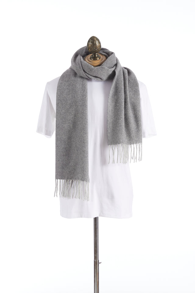 Eton Grey Wool Scarf - Accessories - Eton - LALONDE's