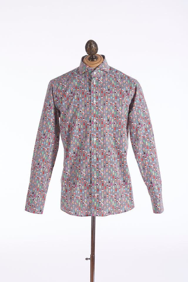 Eton Dark Ice Cream Print Shirt