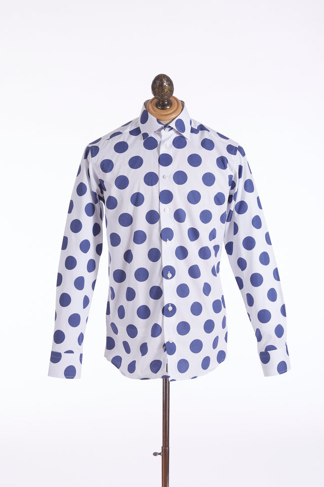 Eton Large Polka Dot Print Shirt