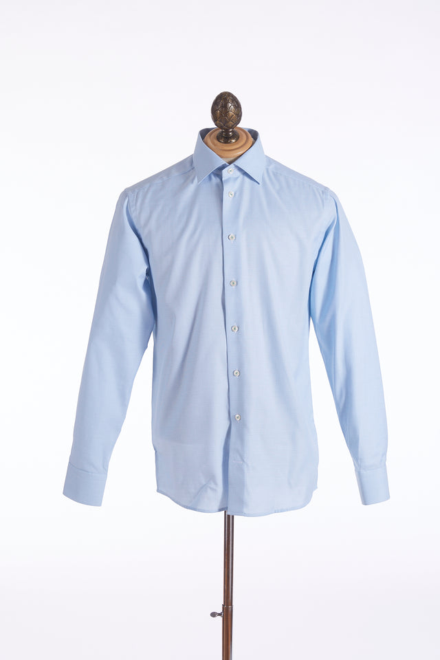 Eton Light Blue with Green Stripes Shirt