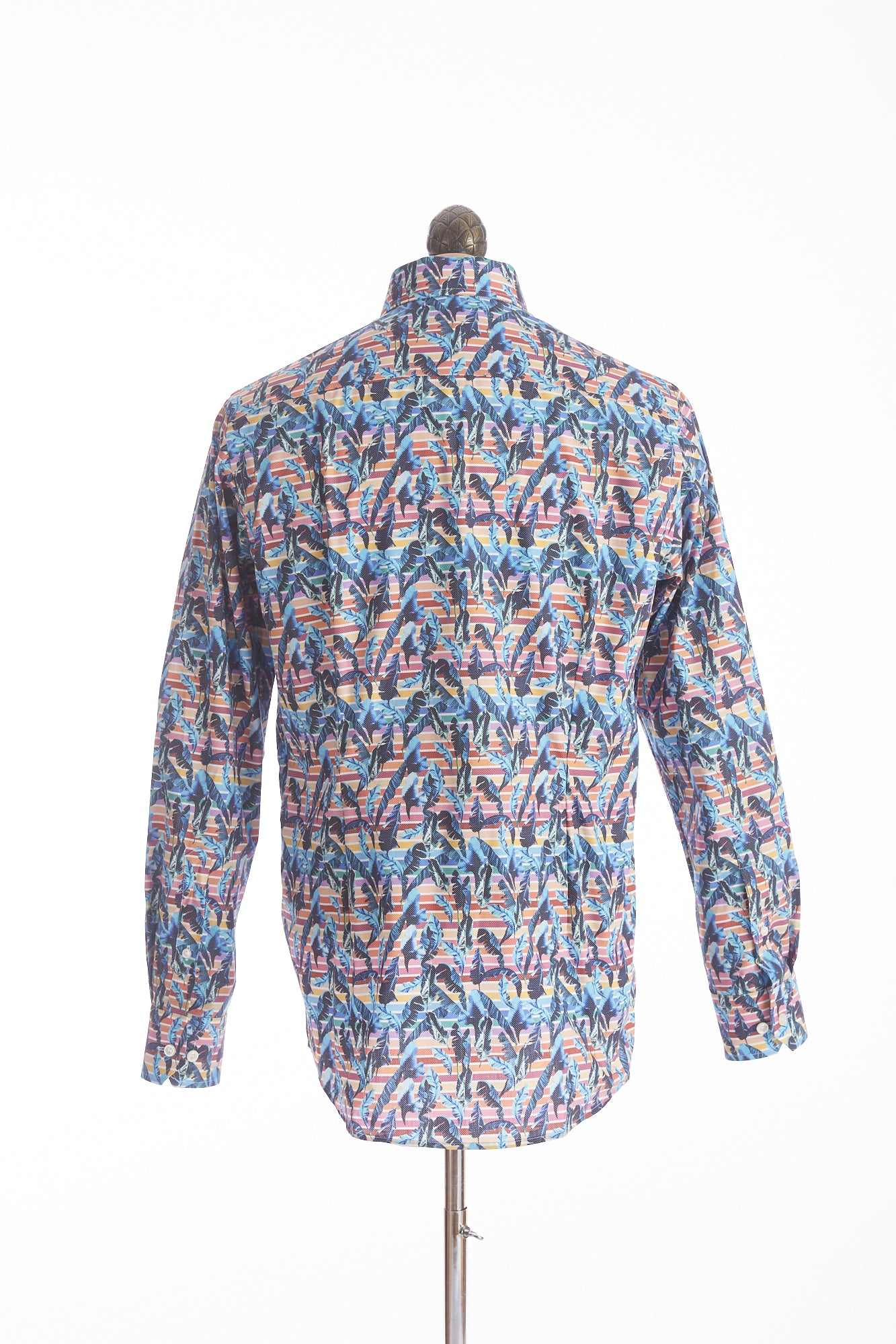 Eton Multicolour Striped Hawaiian Print Shirt - Shirts - Eton - LALONDE's