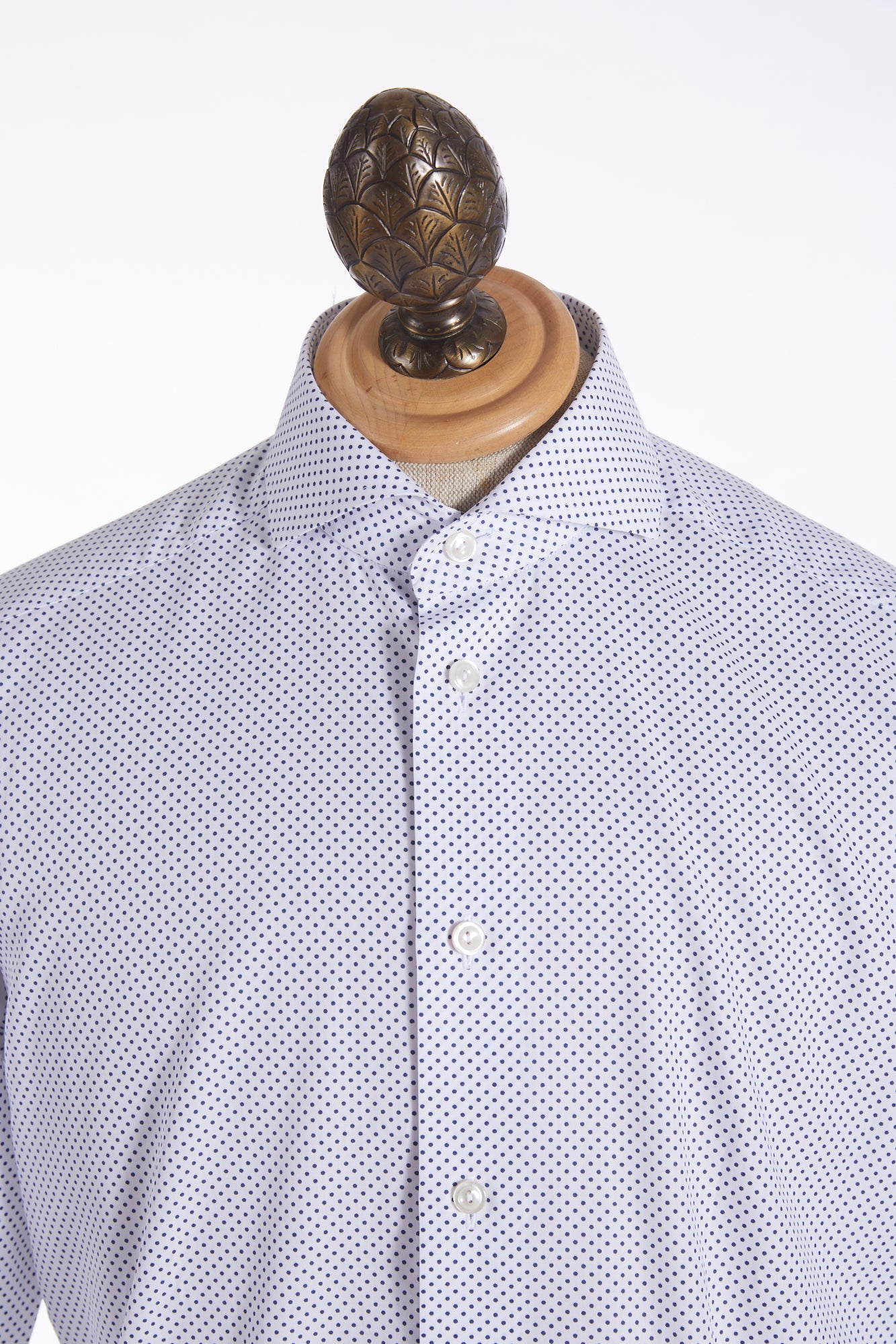 Eton Mini Polka Dot Print Shirt