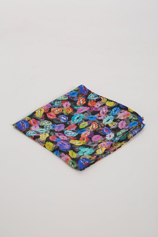 Eton Valentine's Multicoloured Lips Print Pocketsquare - Accessories - Eton - LALONDE's