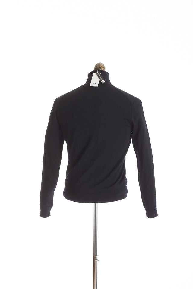 Gim co. ltd. Super 140's Wool Black Turtleneck Sweater - Sweaters - Gim co. ltd. - LALONDE's