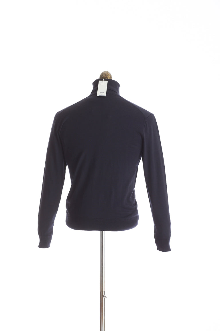 Gim co. ltd. Super 140's Wool Navy Turtleneck Sweater - Sweaters - Gim co. ltd. - LALONDE's