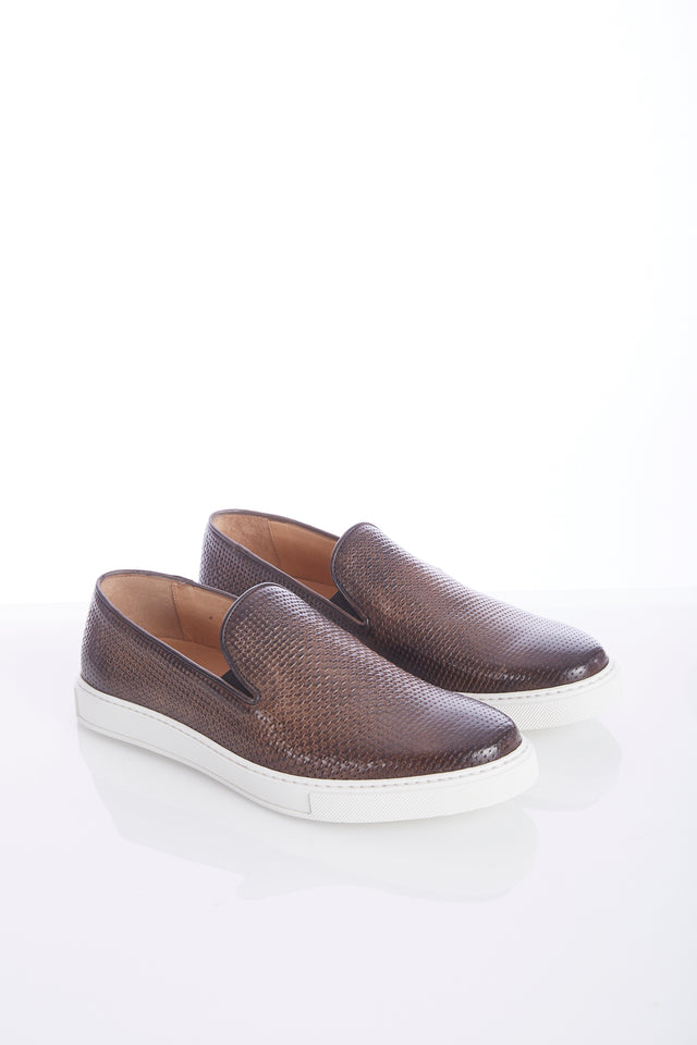 Giulio Moretti Braided Leather Slip-on Sneaker - Shoes - Giulio Moretti - LALONDE's