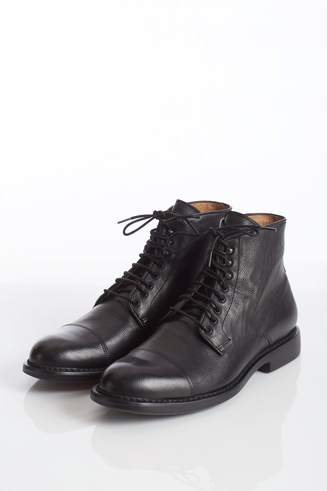 Giulio Moretti Lightweight Black Cap-Toe Boot
