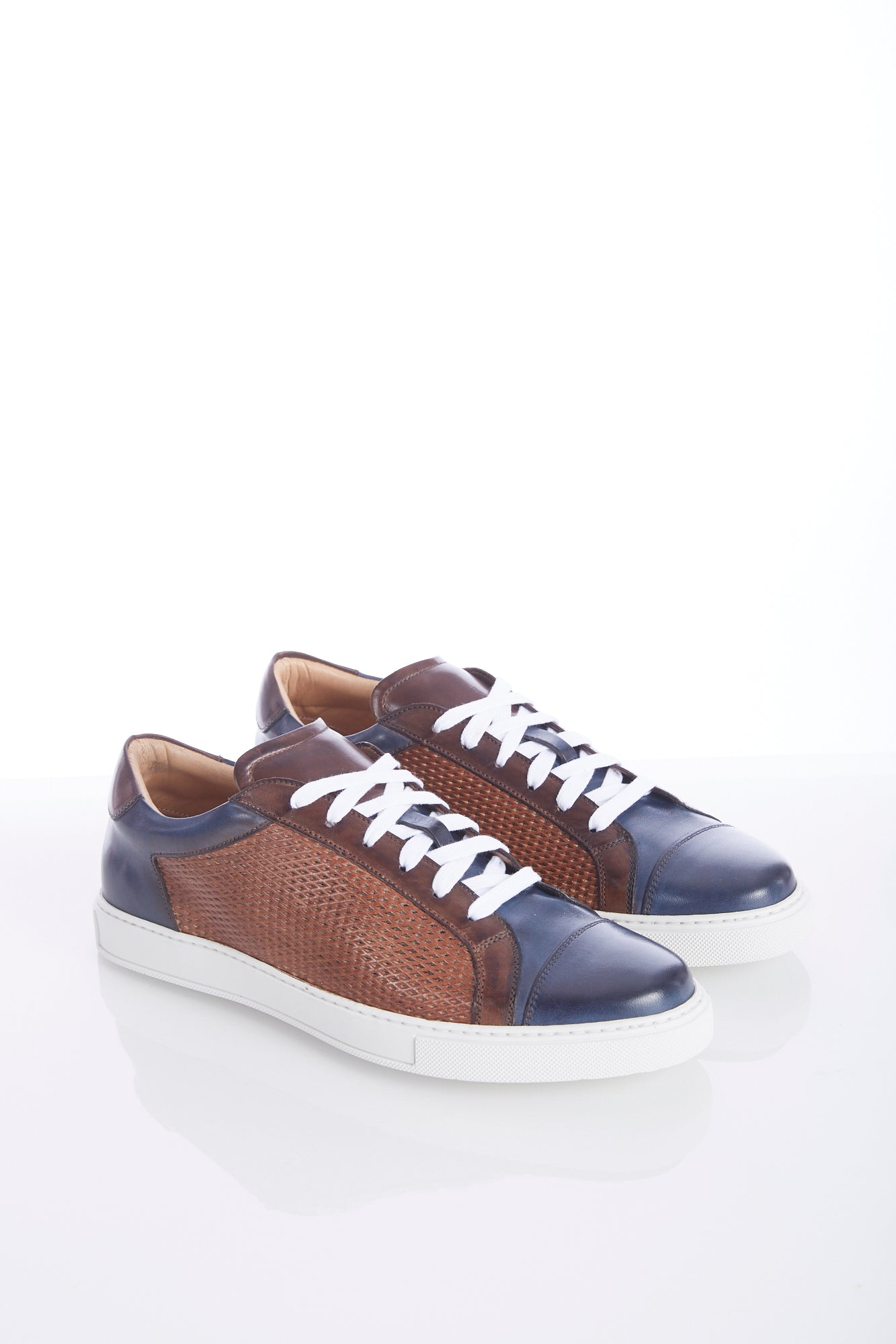 Giulio Moretti Multicolour Leather Sneaker - Shoes - Giulio Moretti - LALONDE's