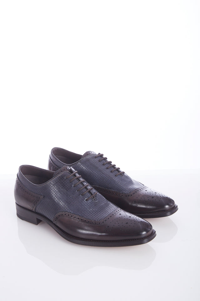 Giulio Moretti Two-Tone Braided U-Wing Shoes - Shoes - Giulio Moretti - LALONDE's