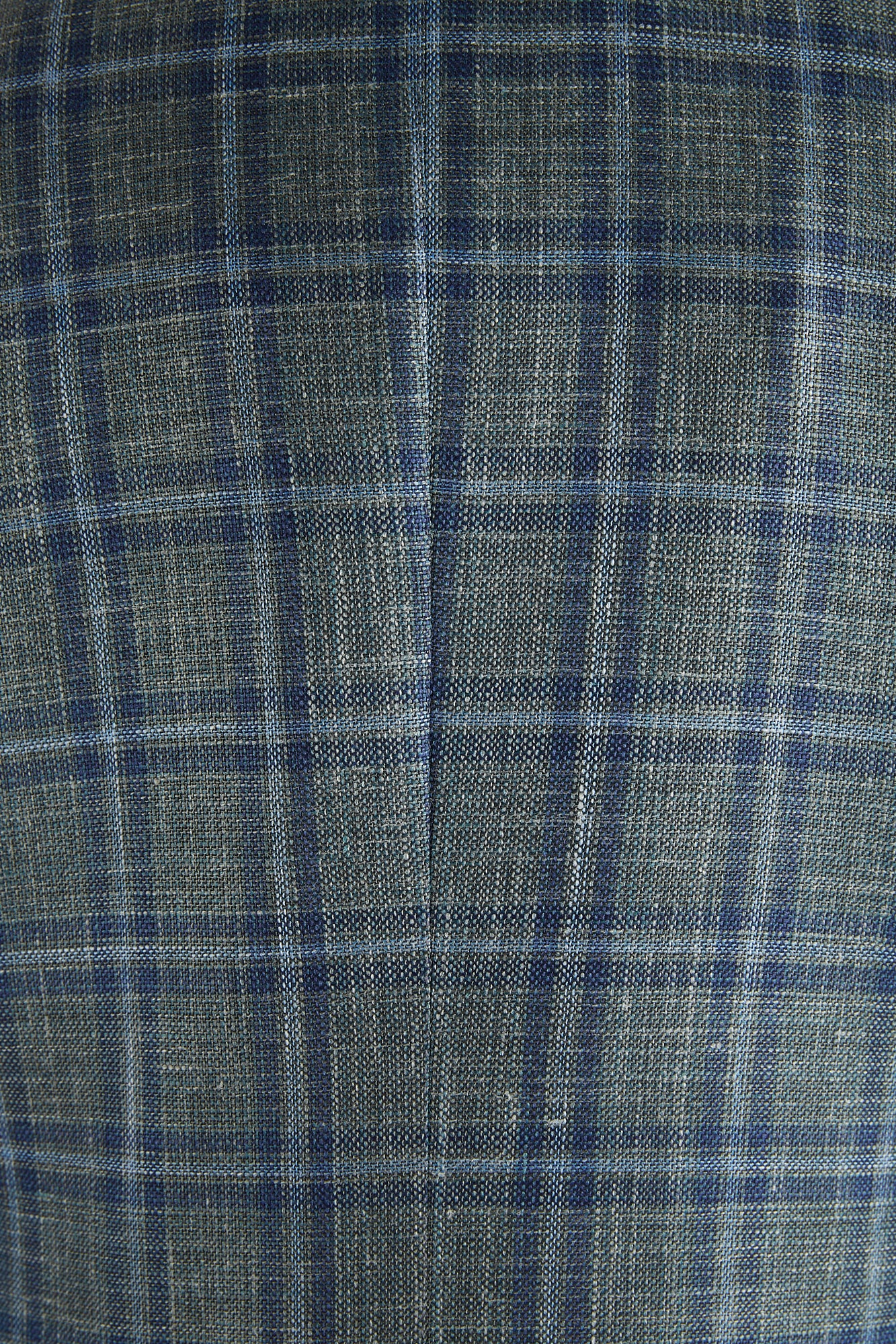 Green Check Loro Piana Fabric