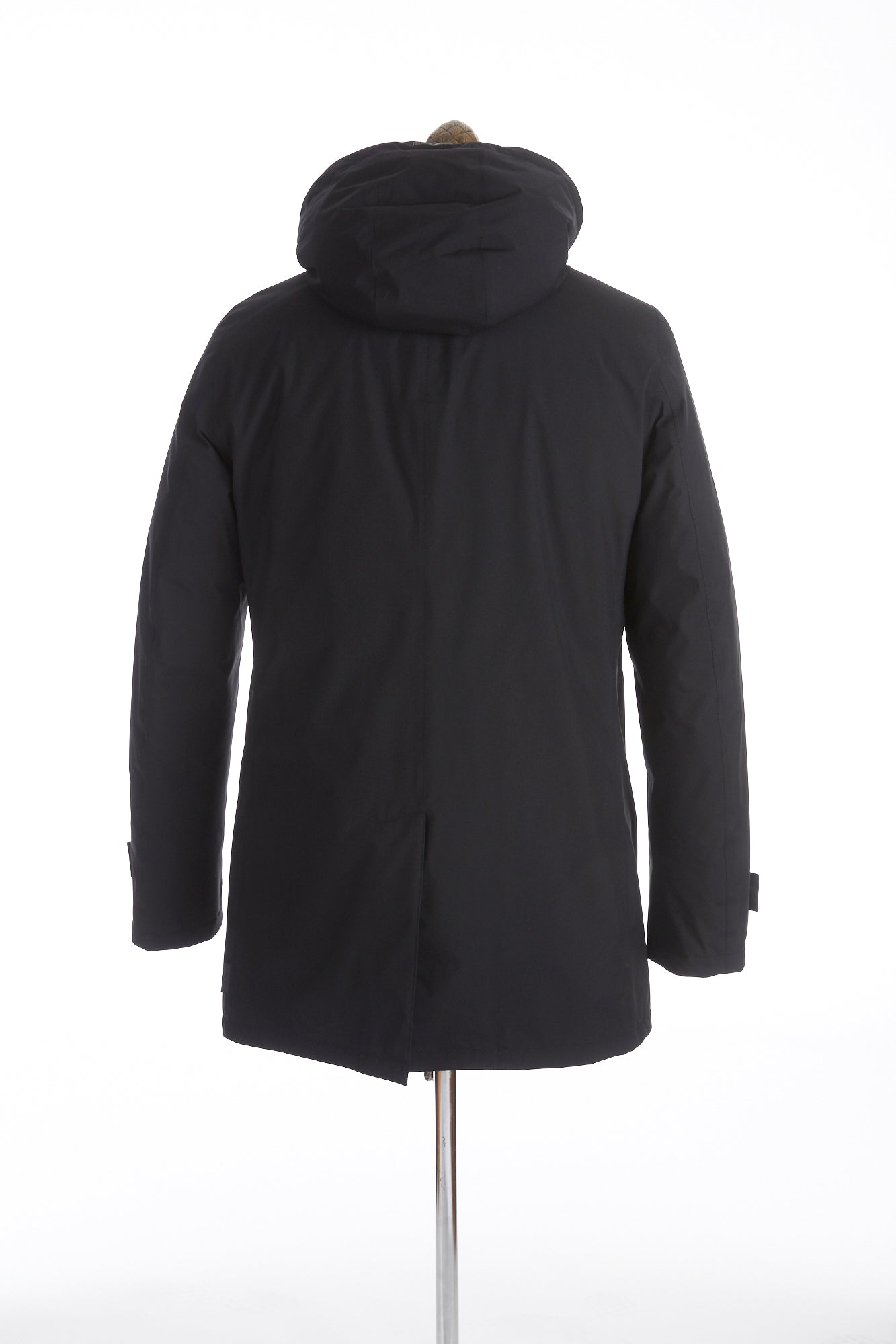 Herno Laminar Black Lined Mac Coat with Removable Hood - Outerwear - Herno - LALONDE's