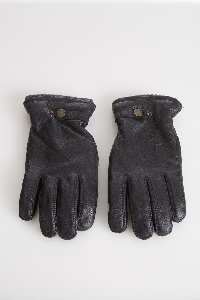 Hestra Black Elksin Leather Gloves with Primaloft Lining - Accessories - Hestra - LALONDE's