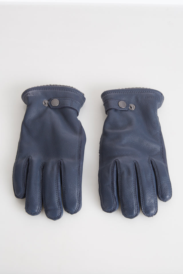 Hestra Blue Elkskin Leather Gloves with Primaloft Lining - Accessories - Hestra - LALONDE's