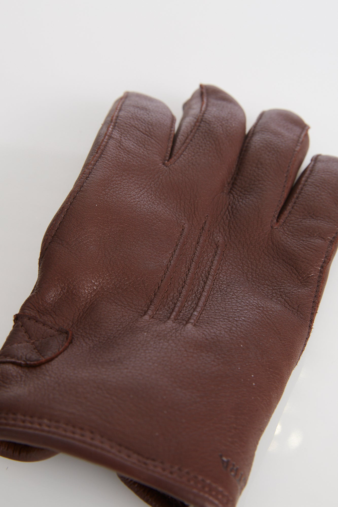 Hestra Brown Deerskin Leather Gloves with Shearling Lining - Accessories - Hestra - LALONDE's