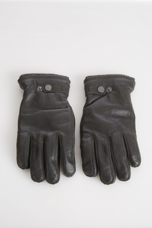 Hestra Green Elksin Leather Gloves with Primaloft Lining - Accessories - Hestra - LALONDE's